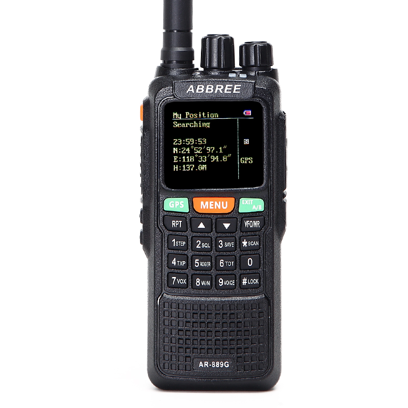 ABBREE AR-889G GPS SOS 10W 999CH Nuit Rétroéclairage Duplex Répéteur Double Bande Double Réception Chasse Jambon Radio Talkie-walkie talkie-walkie
