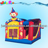 clown inflatable moonwalker and slide combo for sale