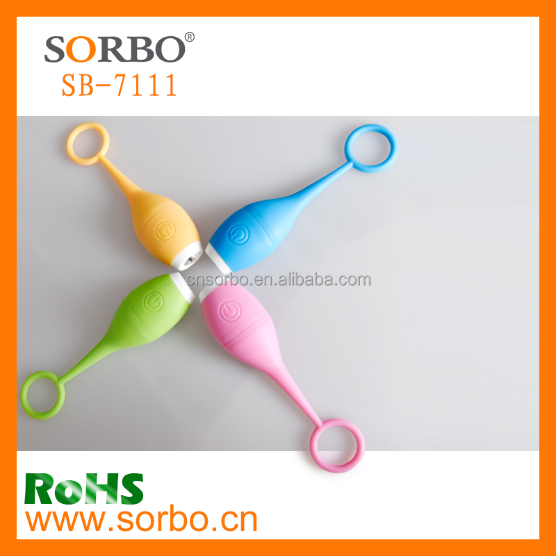 Light Miniature Silicone Keychain LED Flashlight 4 Assorted Colors: Blue, Pink, Green, Yellow
