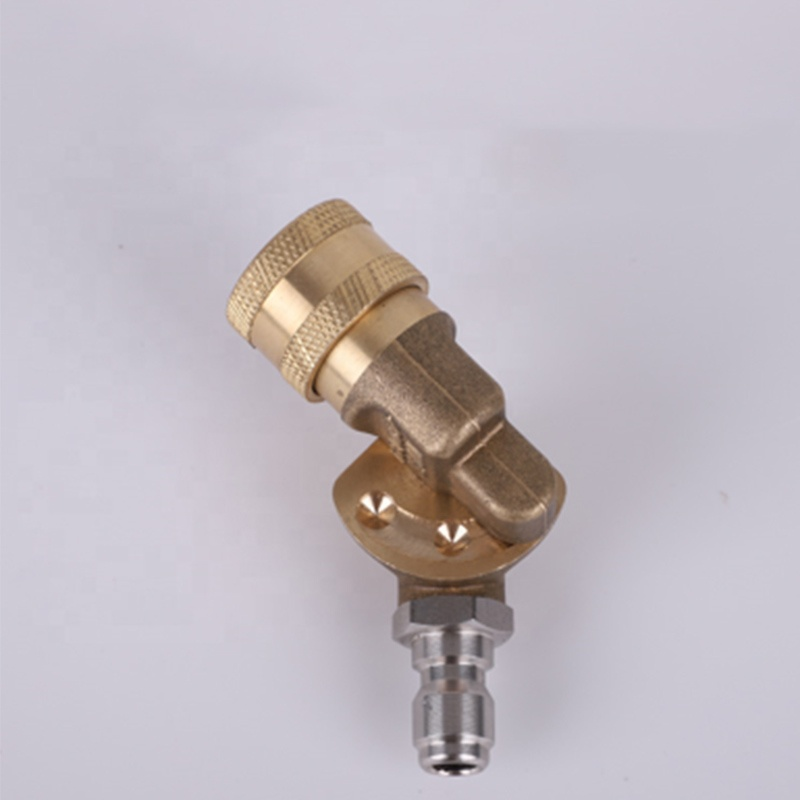 Quick <strong>Connector</strong> Brass <strong>nozzle</strong> car washer 45 degree Rotating <strong>Nozzle</strong>