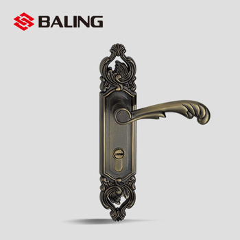 Mechanical Entry Lock French Door Handles From Baling Brand Antique Br Color