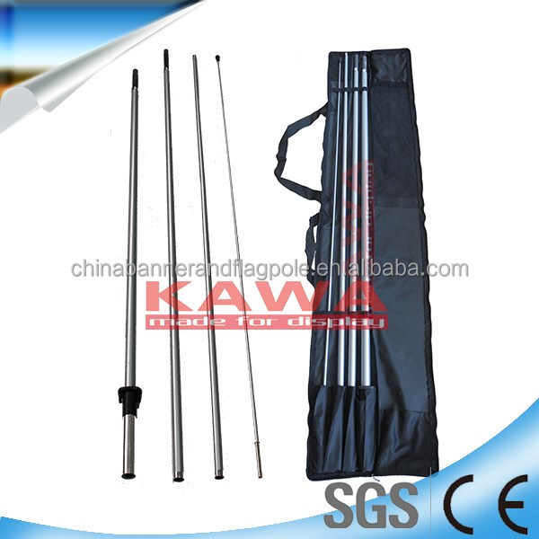 Fiberglass beach flag pole holder/Outdoor Fiberglass feather flagpole/Fiberglass teardrop flag poles