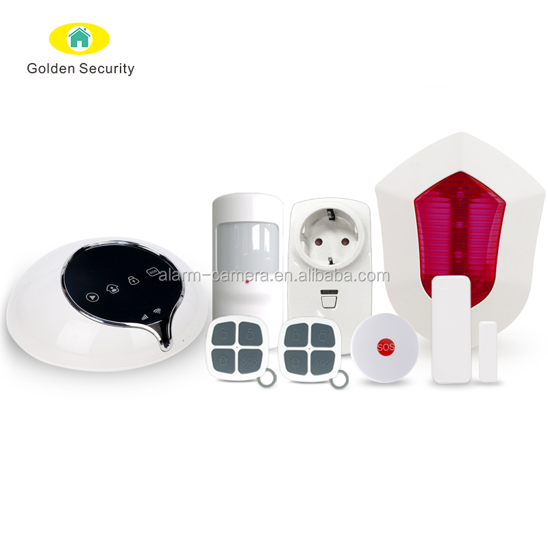 Wireless camera and fingerprint lock integrated WIFI wireless alarm system,IP camera app and smart lock app embeds into host app