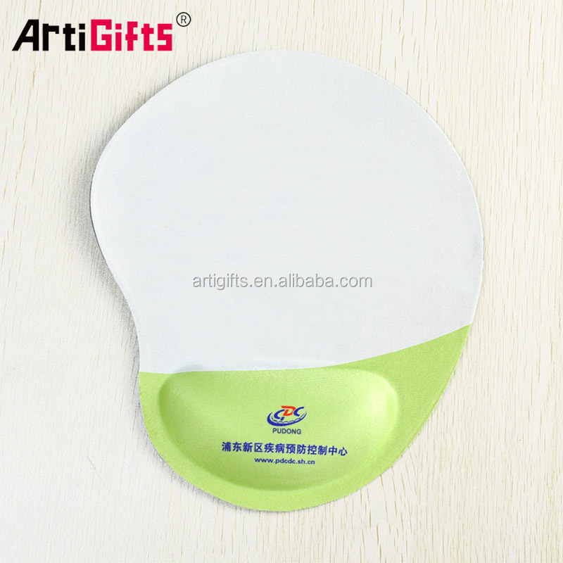 Manufacturing Promotional Printed Logo Custom Mouse Pads with Gel Wrist Support