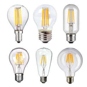 360 Degree 2W 4W 6W 8W High Quality Warm White Dimmable String Lighting Replacement LED Filament Bulbs Vintage Edison Lamp