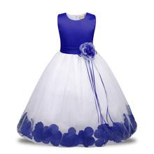 Детское платье с цветочным рисунком для девочек; Детские платья из тюля для девочек; Вечерние платья принцессы на день рождения и свадьбу; Л...(China)