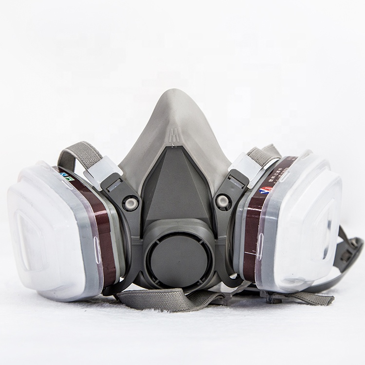 2019 factory half face gas mask chemical respirator with double filter - KingCare   KingCare.net