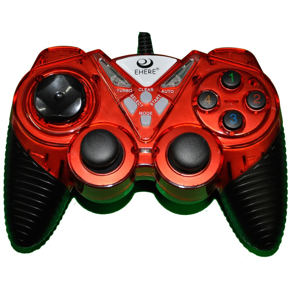 Game handle Dual Vibration Motors Game Controllers for Playstation Dual EJ-05 Red