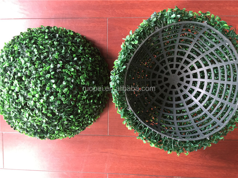 High quality Artificial topiary ball/plastic moss ball for landscaping