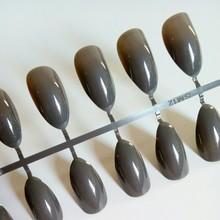 24 шт. короткие накладные ногти-стилеты для ногтей остроконечные конфетные винно-красные накладные ногти для повседневной носки дамские инс...(Китай)