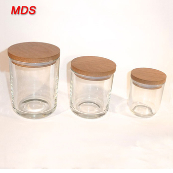 Best Selling Glass Candle Jars With Wooden Lids Wholesale - Buy Candle Jars  Wooden Lids Wholesale,Glass Candle Jars With Wooden Lids,Candle Jars With