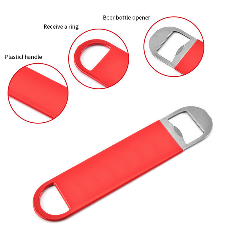 Factory promotional metal stainless steel blank wine bottle openers with rubber cover