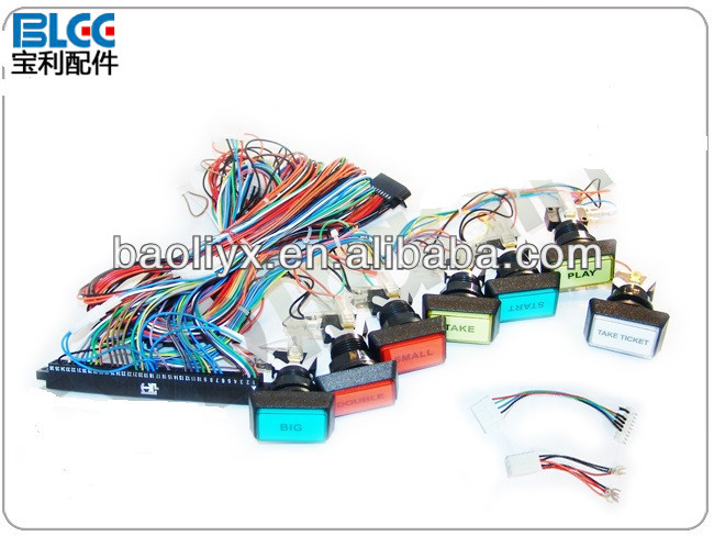 36 10Pins wire harness with push button wire harness push pins wiring wiring diagram instructions  at bayanpartner.co