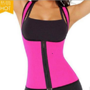 neoprene gym workout slimming body shaper vest with zipper high elastic sauna sweat vest for women