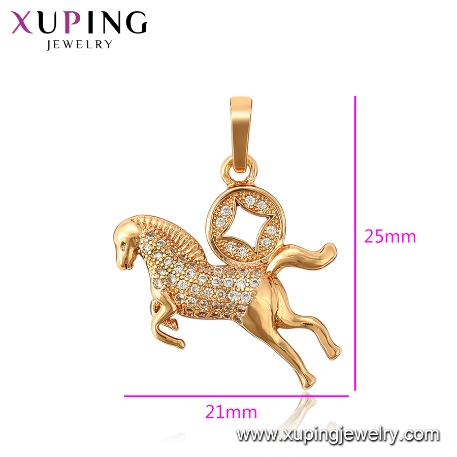 34150 Xuping popular animal pegasus and coin shape pendant wholesale copper alloy jewelry