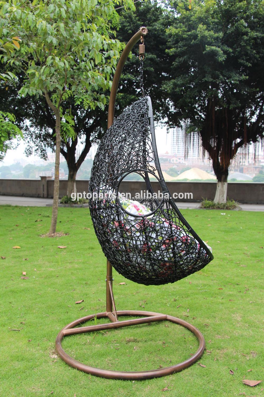 Hanging wicker bed - Wicker Rattan Swing Bed Chair Weaved Egg Shape Hanging Hammock