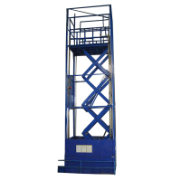 2m lifting height hydraulic scissor lift table for plywood