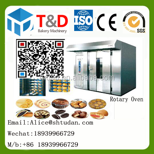 Shanghai T&D bakery Equipment Gas Rotary oven rotary rack oven factory steady supplier 10 16 32 64 tray