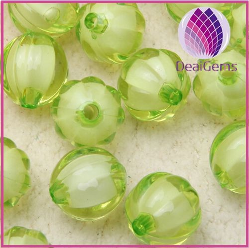 miracle green 8mm Bulk chunky acrylic faceted pumpkin ball beads