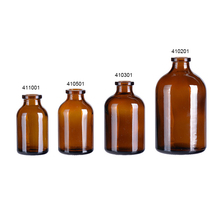 Pharmaceutical 20ml 30ml 50ml 100ml amber cheap glass vial pop top pill drug bottles
