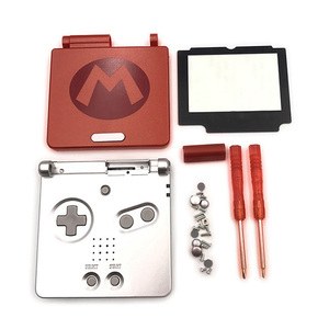 For Super Mario Full Housing Shell Case Cover Handle Game Console Part Red Color For Nintendo GBA SP For Gameboy Advance SP