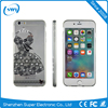 Luxury diamond dresses TPU soft cellphone case for iphone 6s 6 plus
