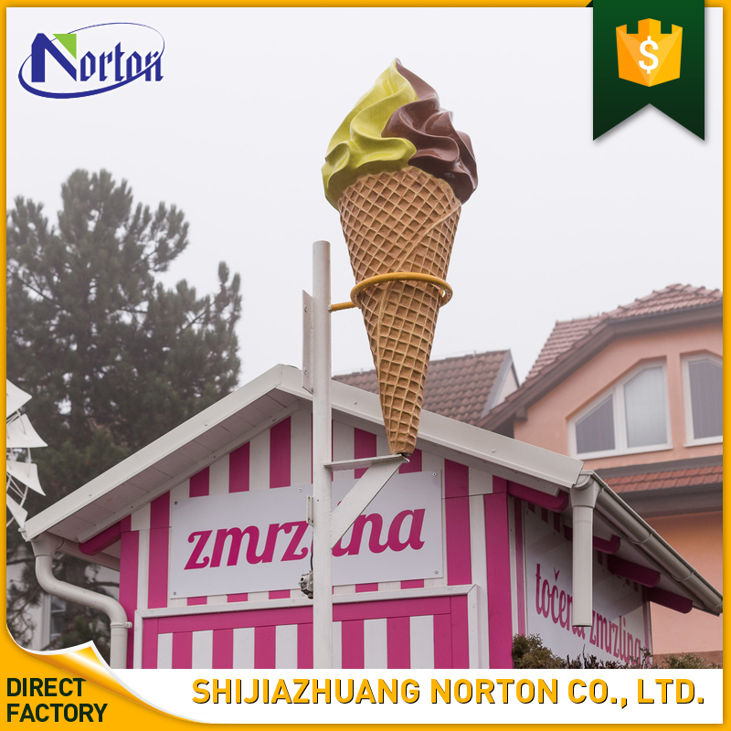 High quality shop decorate resin ice cream cones sculpture NTFV-082Y