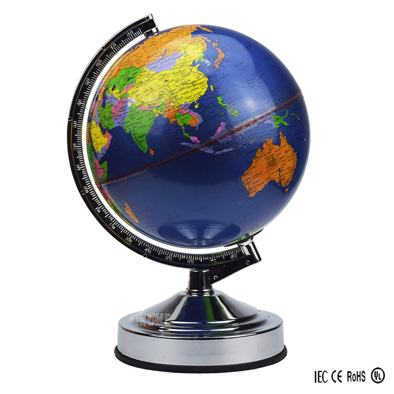 Living Room,Study Room Modern Earth Globe ,World Globe Touch Lamp