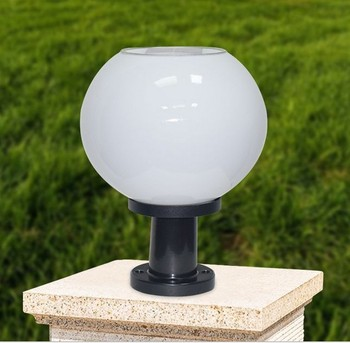 Warm White Lights Solar Garden Globe Light Led Pillar Ball Lamp
