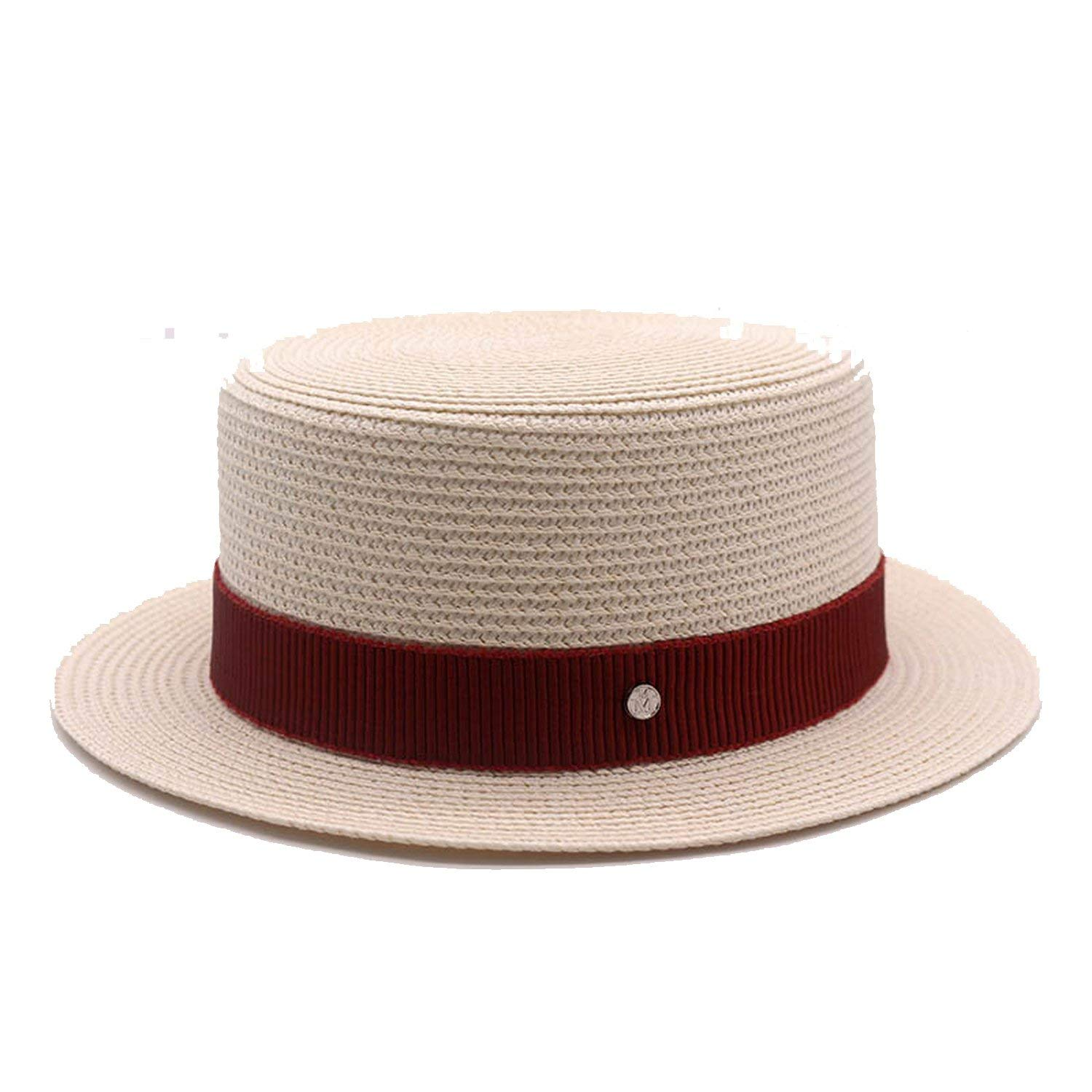 845e73510b9 Romantic moments Women s Beach Sun Hats Quality 2018 New Flat top Straw  Summer Fashion Shade Sunscreen Sun Hat