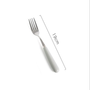 Ceramic Stainless Steel Flatware 19CM Fork
