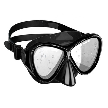 7 Color Spearfishing Snorkeling Black Silicone Tempered glass Mask For Diving