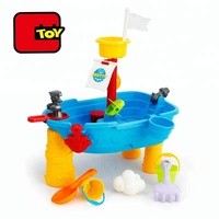 play boat sand water beach toy set with 13 pcs