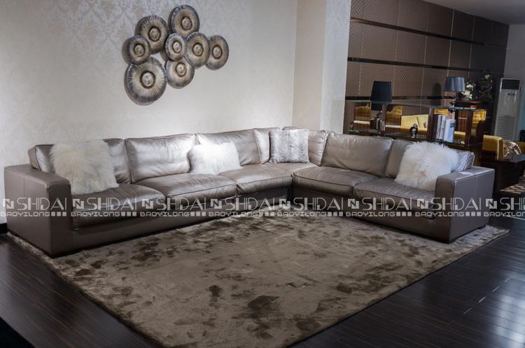 Perfect Silver Sofa Set, Silver Leather Sofa, Burma Teak Wood Sofa Sets 985