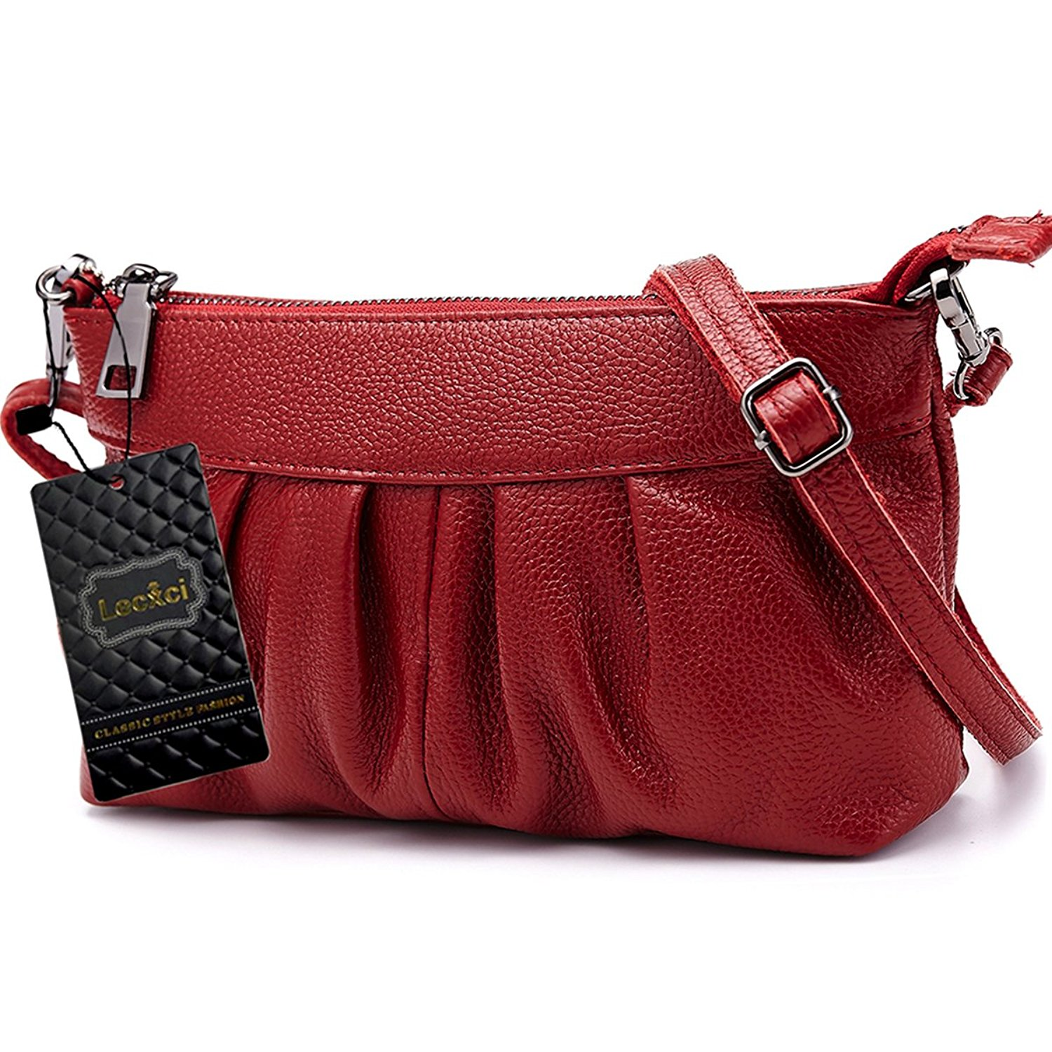 828b767f1f10 Buy Lecxci Womens Small Real Leather Crossbody Cell Phone Bags ...