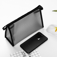 Ladies Mesh Design Zipper Makeup Bag