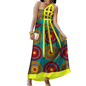 African Dress for Women Dashiki Cotton Batik Sexy Long Evening Dress Patterns Traditional clothing WY220