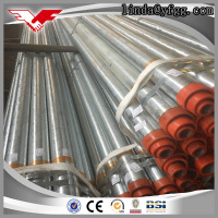 Hot Galvanized Round Section Steel Welding Tube 8 inch metal fence posts