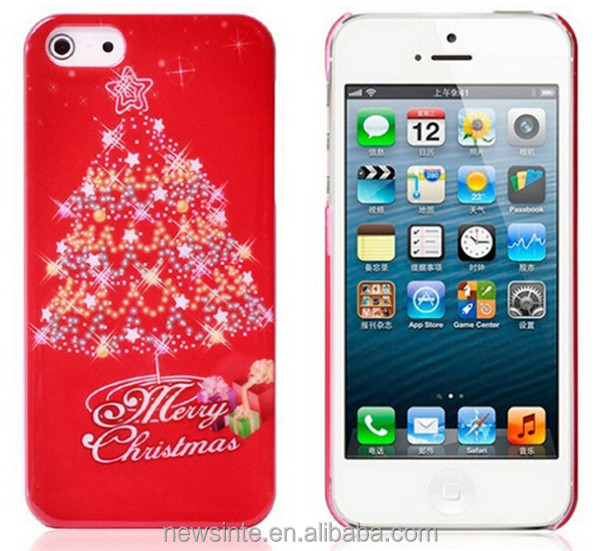 China wholesale Christmas cover case for iphone5/5s Christmas gift