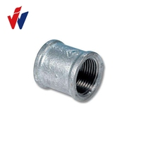 BS thread hot dipped galvanized malleable iron pipe fitting 270 /220 socket