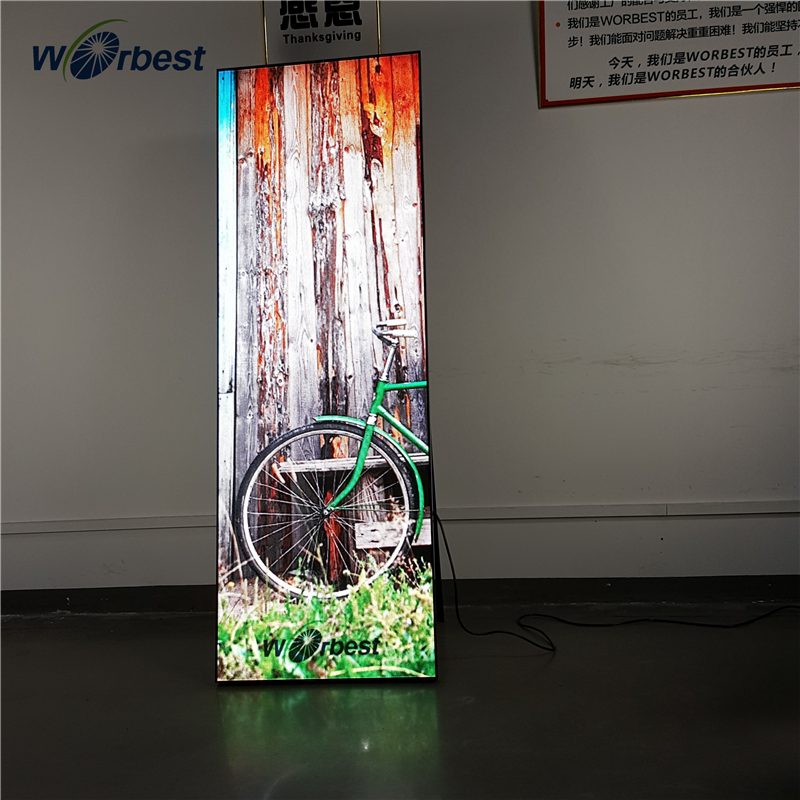 Worbest Indoor floor stand schermo A LED display advertising digitale
