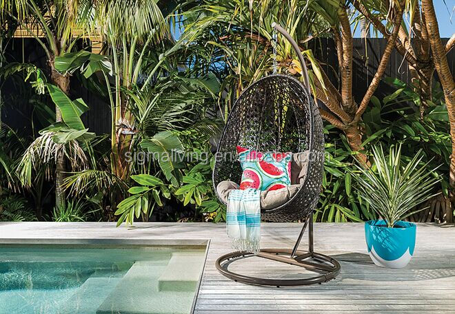 Nice outdoor furniture patio hanging rattan swing egg chair