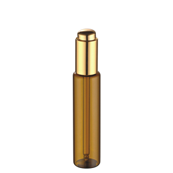 Hot sale 5ml 8ml 10ml cosmetic packaging tube amber serum essential oil sample bottle with dropper