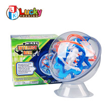 hot sale unique design delicate plastic 3D maze magical intellect ball for child