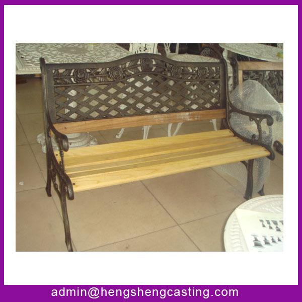 Alibaba Furniture Modern Cast Iron And Wood Garden Bench