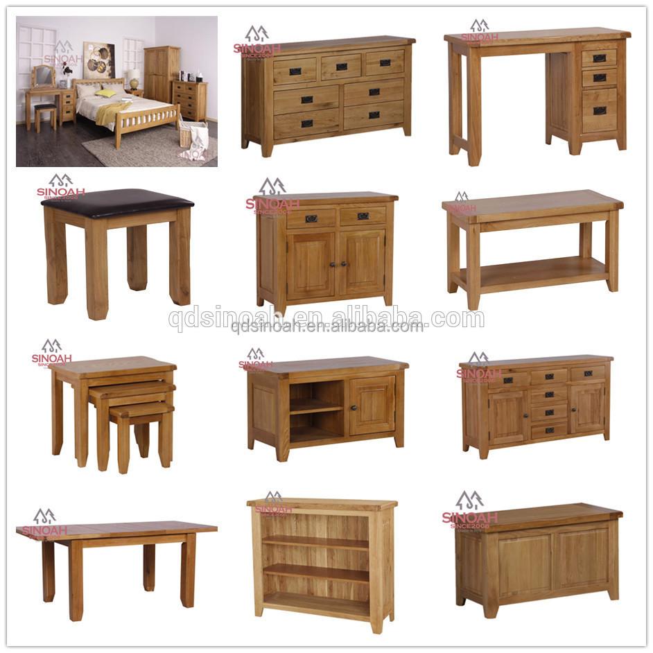Muebles de roble moderno juego de dormitorio cama doble de for Muebles de oficina rusticos