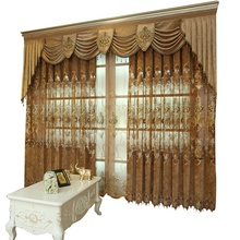 Cortina ciega decorativa bordada de lujo <span class=keywords><strong>real</strong></span> europea