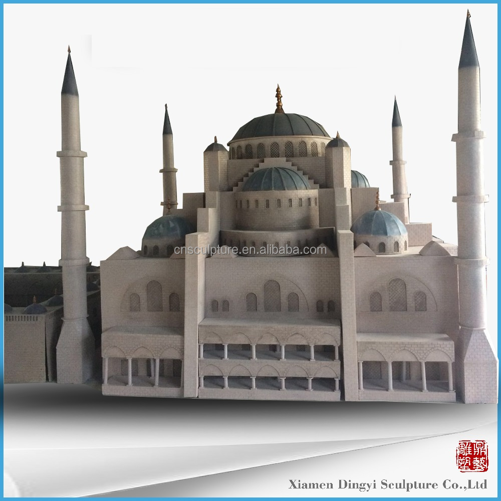 Mosque Sculpture Fiberglass, Miniature Sculpture for Amusement Park
