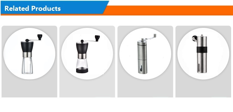 Amazon hot selling manual stainless steel conical burr coffee grinder