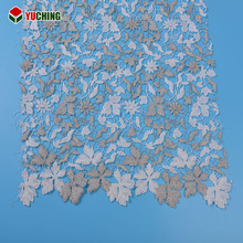 Creative design african guipure allover embroidered lace fabric for garment